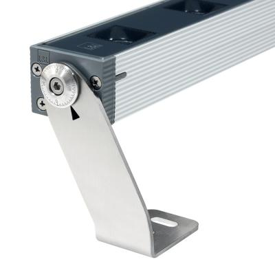 Graduated adjustable bracket, available in two heights: 75 mm, 140 mm