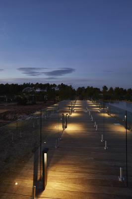 Plin 2.1, 3000K, 12W, antracita. thecamp, Aix-en-Provence, Francia. Project by Corinne Vezzoni & Associés, light planning by 8'18''